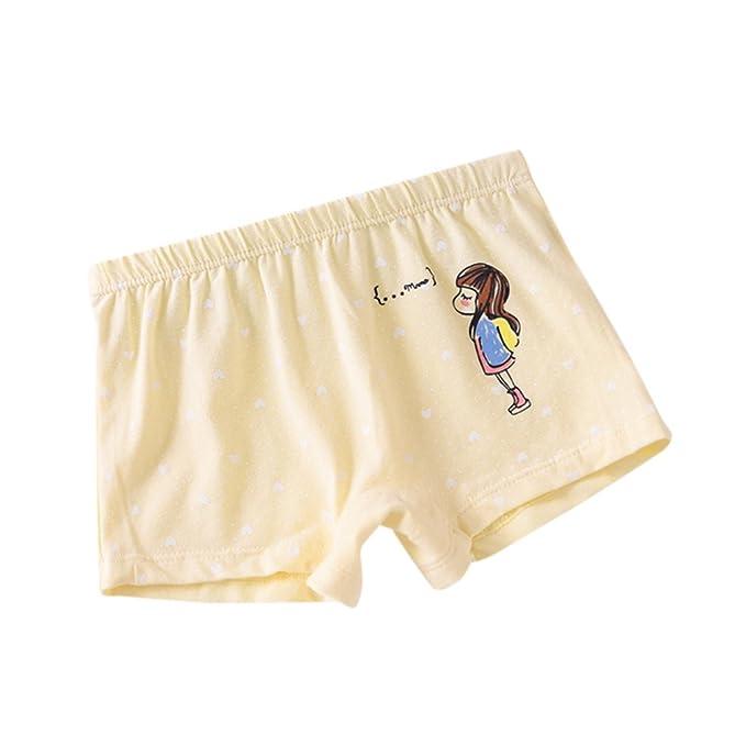 Hoplsen Bebé Chicas Ropa interior Suave Niños Ropa interior Niños Calzoncillos Boxer Pañal Cubrir Pantalones (
