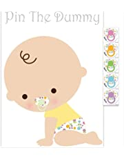 Pin The Dummy On The Baby Game For 35 Players Baby Shower Fun Game Free Delivery (White)