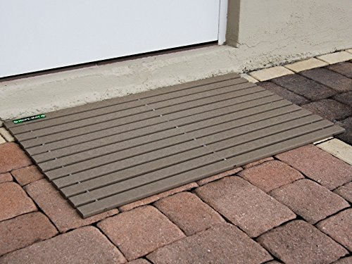 HDPE-MAT UV Resistant Heavy Duty Waterproof Front Door Mat | Stylish Handcrafted Recycled Plastic Poly Lumber Slats - Eco Friendly For Outdoor Entrance Patio Garage Entry by HDPE-MAT (Image #6)