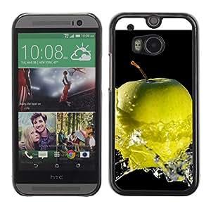 Be Good Phone Accessory // Dura Cáscara cubierta Protectora Caso Carcasa Funda de Protección para HTC One M8 // Fruit Macro Wet Apple