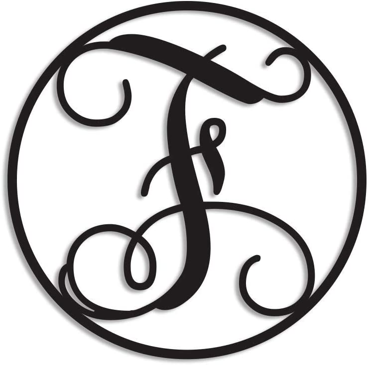 Blafitance Split Letter F Monogram Sign Mental Personalized Last & Family Name Wall Decor Custom Initial F Plaque Letter for House, Front Door, Garden 14 Inch