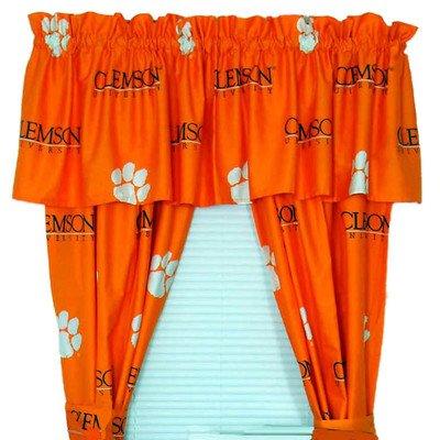 NCAA Printed Curtain Panel Pair Size: 42