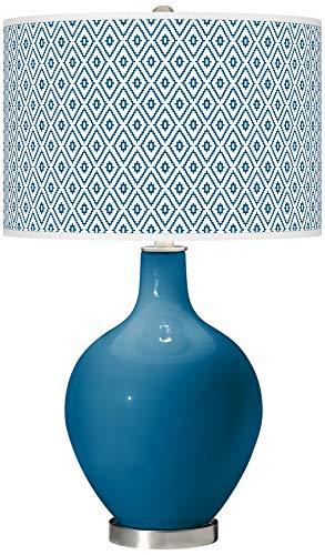 Mykonos Blue Diamonds OVO Table Lamp - Color + Plus ()