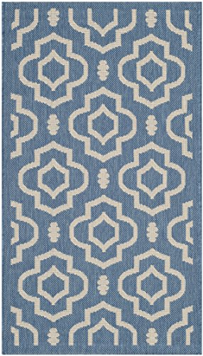 """Safavieh Courtyard Collection CY6926-243 Blue and Beige Indoor/ Outdoor Area Rug (4' x 5'7"""") -  CY6926-243-4"""