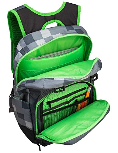 JINX Minecraft Creepy Creeper Kids School Backpack, Gray, 17