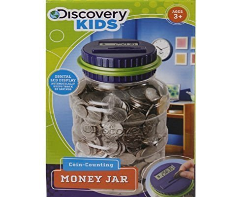 Coin Counting Jar - Discover Kids Coin-Counting Money Jar- Blue And Purple