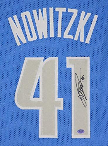Dirk Nowitzki Dallas Mavericks Signed Autographed Blue #41 Custom - Mavericks Dallas Jersey Custom