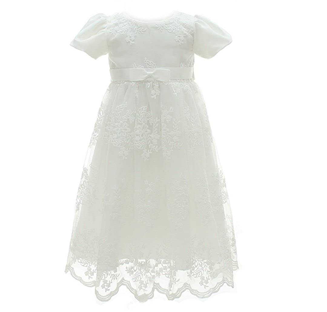 Blukey Hot Sale Baby Girl Baptism Christening Gown Formal Princess Dress