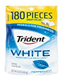 Trident White Sugar Free Gum, Peppermint, 180 Count