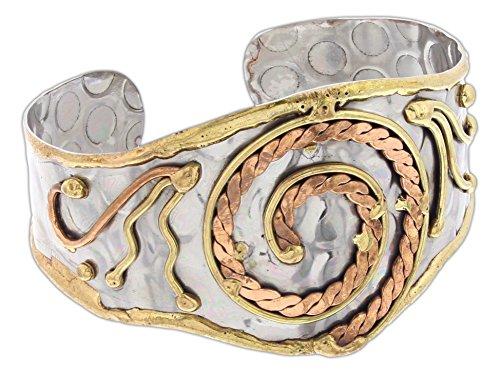 Anju Mixed Metal Cuff Bracelet - Cuff Brass Bangle Bracelet