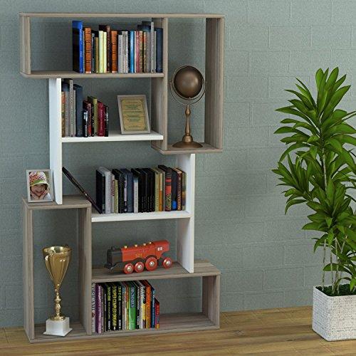 CORGIN Libreria - Avola / Bianco - Scaffale per libri: Amazon.it ...