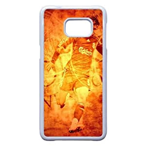 Fútbol Antecedentes Jugador 11407 Samsung Galaxy S6 Edge + Plus caja del teléfono celular funda blanca del teléfono celular Funda Cubierta EEECBCAAJ70426