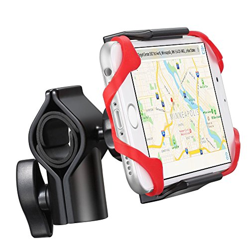 Bike Mount, GreatShield EZ-Grip 360 Degree Rotating Metal Base Bicycle Handlebar Cradle Clamp Holster for iPhone X/8 Plus/8, Galaxy Note 8/S8 Plus, Moto G5/G5 Plus, LG V3, Nokia 6, Google (Swivel Clip Holster Cradle)