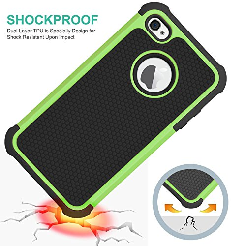 iPhone 6 6s Plus CaseHankuke Hybrid double Layer entire Body Shock Proof Protcetive Armor Defender Cover event for iPhone 6 6S Plus 55 inch show black green Cases