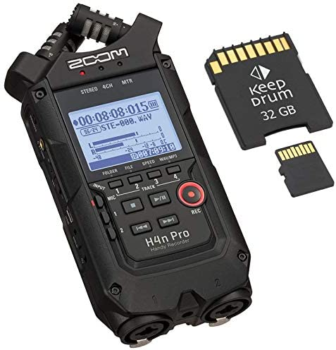Zoom H4n Pro Black draagbare audiorecordergeheugenkaart 32 GB