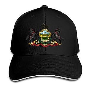 Ws WellShopping Pennsylvania Flag Element Design Custom Sandwich Peaked Cap Unisex Baseball Hat