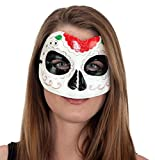 27018 Ladies Day Of Dead Mask Red Green Trim