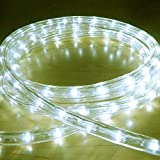 Bright Lightz LED Rope Lights, Warm White, 2 Metre - 10 Metre Lengths, 6 Controllable Flashing Functions, Fantastic Outdoor Christmas Lights, Decorative Xmas Lights, Gardens Lights, Etc. (2 Metre)