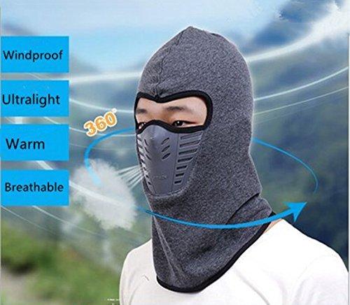 Autumn/Winter Fleece Balaclava Hood Tactical Full Face Mask For Running/Hiking/Cycling/Motercycling/Skiing-Black