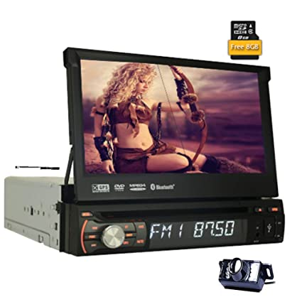 Amazon com: EinCar 7 inch Single 1 Din Windows Car DVD Player in