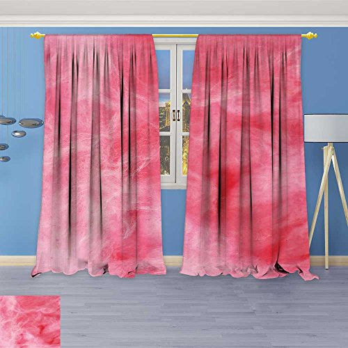 SOCOMIMI 624 Panels Room Darkening Blackout Curtains,Background of Pink Cotton Candy,Living Room Bedroom Window Drapes, 120W x 84L inch