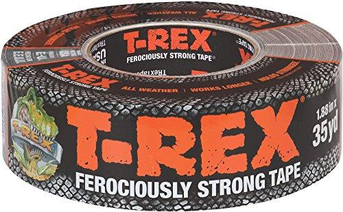 T-REX 240998 Ferociously Strong Tape, 1.88 Inches x 35 Yards, Waterproof Backing, Dark Gunmetal Gray, Single Roll