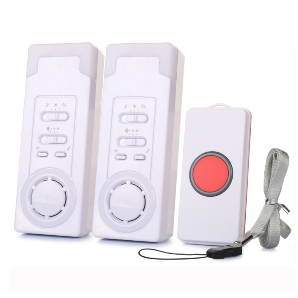 ECVISION Smart Caregiver Wireless Caregiver Personal Pager System Emergency Care Alarm Call Button Nurse Alert System 500 ft Operating Range 2 in 1