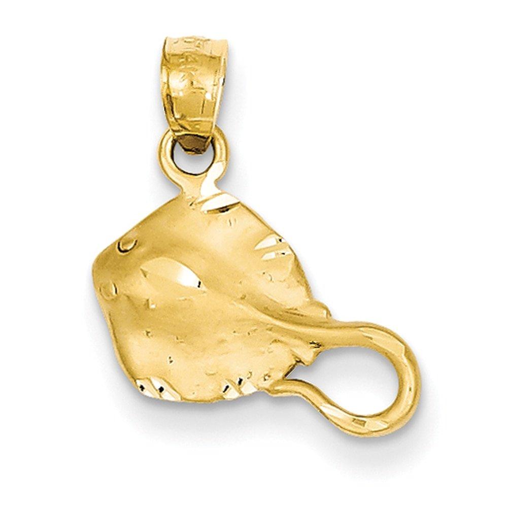 Lex /& Lu 14k Yellow Gold Stingray Pendant LAL77355