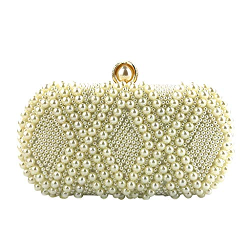 Shoulder Bags For Women Large Ladies Crossbody Bag With Tassel Women Crystal Beaded Clutch Evening Chain Crossbody Bags Party HandBag Beige one size