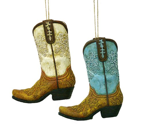 Cowboy Boot Ornament Set