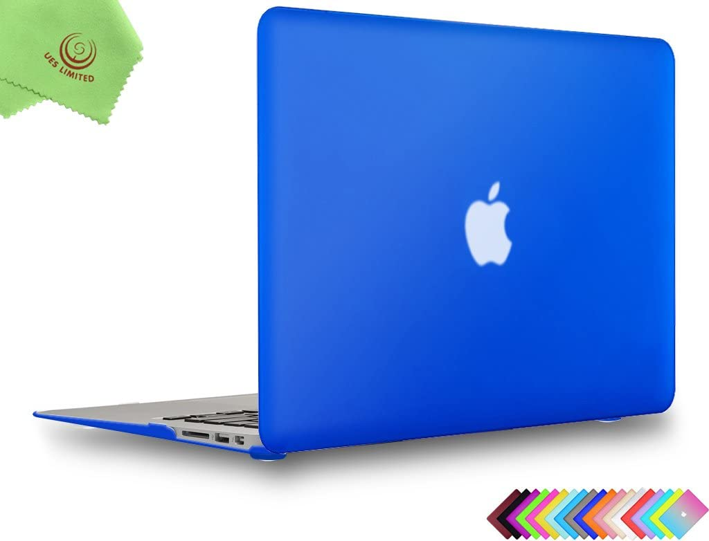 UESWILL Smooth Matte Hard Shell Case Cover for 2010-2017 Release MacBook Air 13 inch (Model A1466 / A1369) + Microfibre Cleaning Cloth, Royal Blue