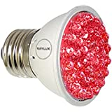 RubyLux All Red LED Bulb Size Small