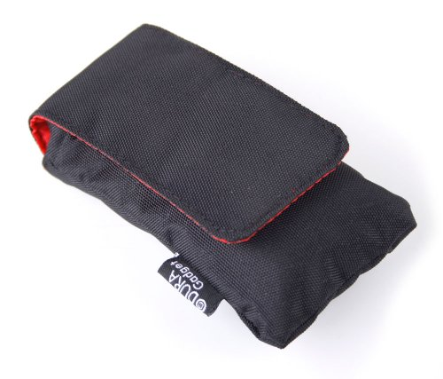 DURAGADGET Black Cushioned Hardwearing Water Resistant Case with Belt Loop for The Fkant Fingertip Pulse Oximeter