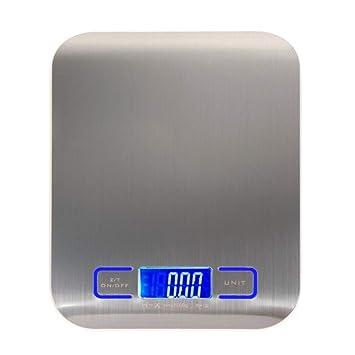ZHANGYUGE Báscula Digital de Cocina medir Herramientas de Cocina de Acero Inoxidable Balanza de Peso electrónica LED: Amazon.es: Hogar