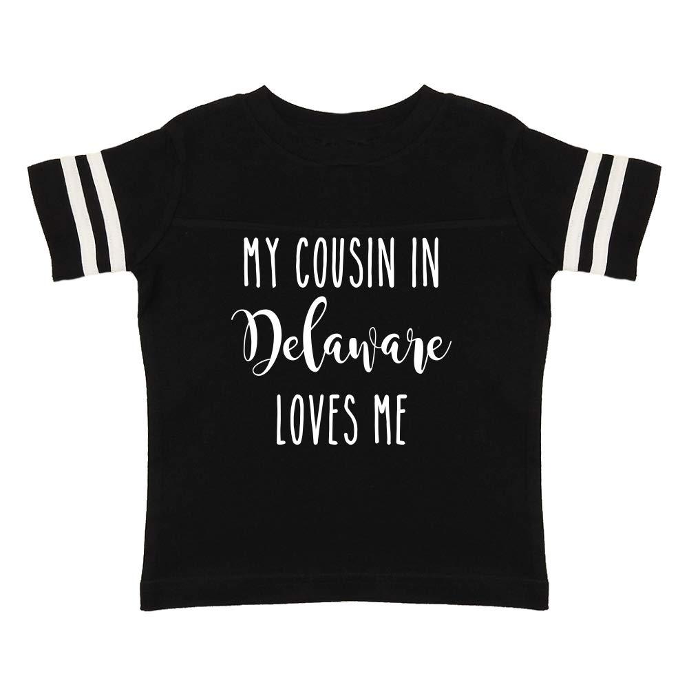 Toddler//Kids Sporty T-Shirt My Cousin in Delaware Loves Me