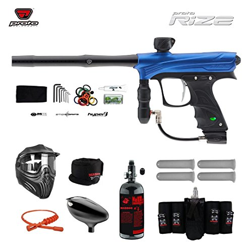 MAddog Proto Rize Elite HPA Paintball Gun Package - Blue Dust