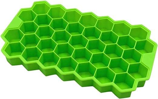 Amazon.com: Cubo de hielo de silicona con forma de panal de ...