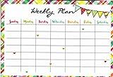 Magnetic Dry Erase Calendar - White Board Planner for Refrigerator/School Lockers - Monthly & Weekly - (Full Sheet Magnetic) - v8