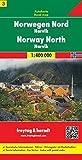 Norvegia nord 1:400.000: Toeristische wegenkaart 1:400 000