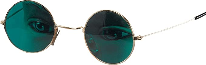 3357b3dcb5b John Lennon Ozzy Osbourne Hippie Fancy Dress Party Green Lens Round Glasses