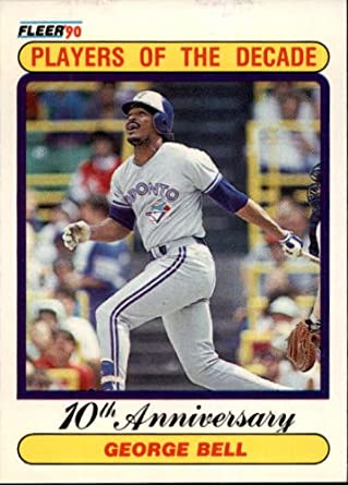 Amazoncom 1990 Fleer Baseball Card 628 George Bell Collectibles