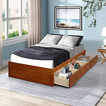 Tenozek Platform Storage Bed with 3 Drawers