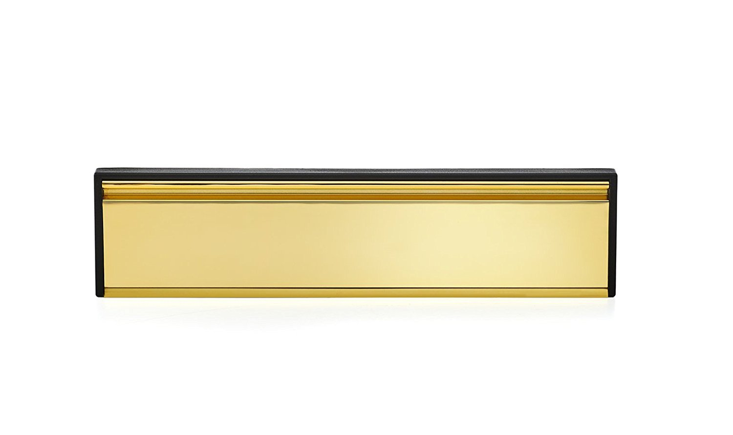 Door Mail Slot by Gaard - Telescopic Sleeve & Gold Sealed Flap - Compatible with Any Door Type