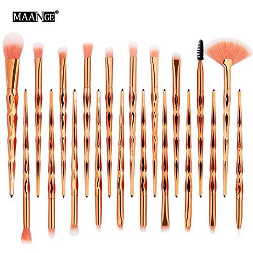 RDTIAN 20PCS Make Up Foundation Eyebrow Eyeliner Blush Irregular Color Cosmetic Concealer Brushes (B) (Piece Beauty Set 32 Makeup)