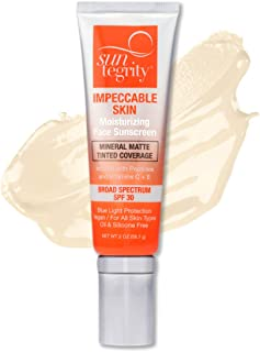 product image for Suntegrity Impeccable Skin - Tinted Sunscreen, Broad Spectrum SPF 30 (Ivory) - 2 oz
