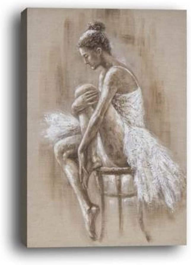 WOWDECOR - Lienzo decorativo para pared, diseño de bailarín de ballet, decoración de pared para el hogar, sala de estar, dormitorio, marco de bricolaje (tamaño grande)