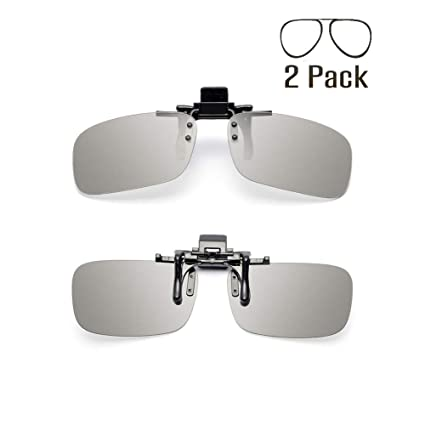 c8ad5498fb9 Image Unavailable. Image not available for. Color  Tacloft Unisex Adult Polarized  3D Clip-on Glasses ...