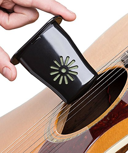 Guitar Humidifier + Capo + Pick Holder + Syringe for Quick & Easy Refill - by MusicVow - Includes FREE E-BOOK with Instructions & Tips for this Acoustic Accessories Set (Guitar Humidifier Case compare prices)