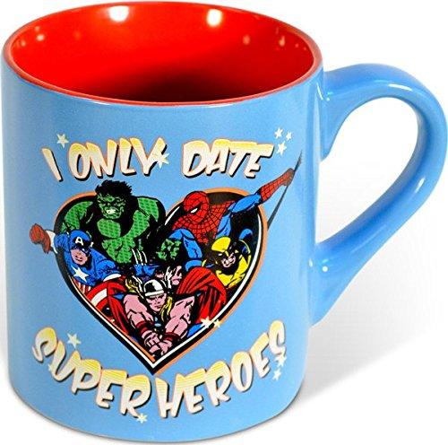 Date Buffalo (Silver Buffalo MC4132 Marvel Comics - I Only Date Superheroes - Ceramic Mug, 14 Ounces, Multicolored)