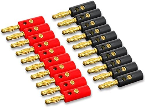 12pcs Radioshack Stackable 4mm Banana male Plug Jack Red+Black